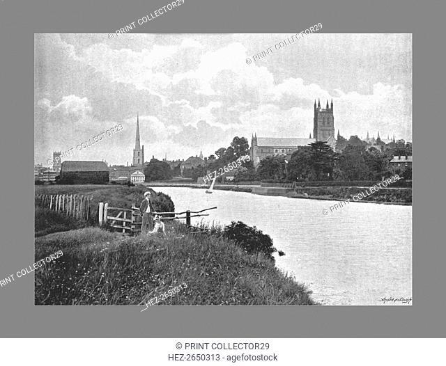 Worcester Cathedral, c1900. Artist: Harvey Barton