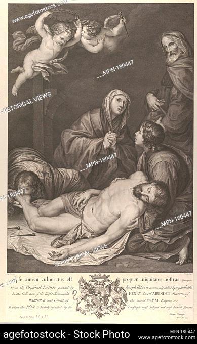 Entombment of Christ. Artist: Domenico Cunego (Italian, Verona 1727-1803 Rome); Artist: Intermediary draughtsman Angelo Ricci (Italian