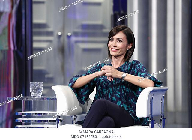 during the TV show Porta a Porta. Rome (Italy), June 25th, 2019..The Vice President of the Chamber of Deputies of Italian Republic Mara Carfagna during the TV...