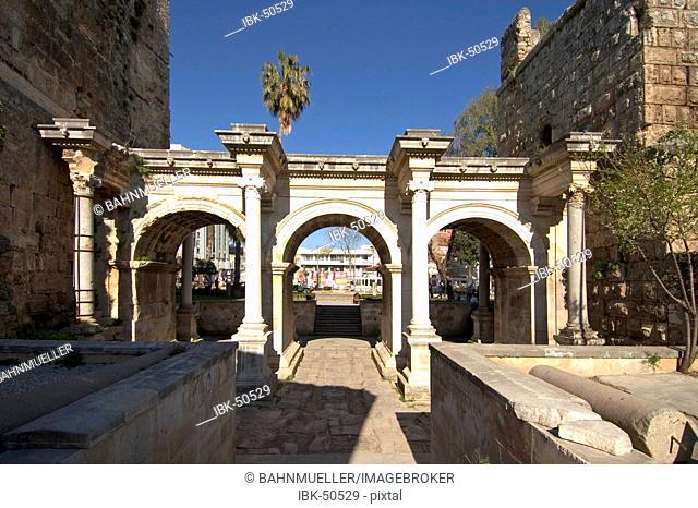 Antalya at the south coast Turkey Hadrians gate