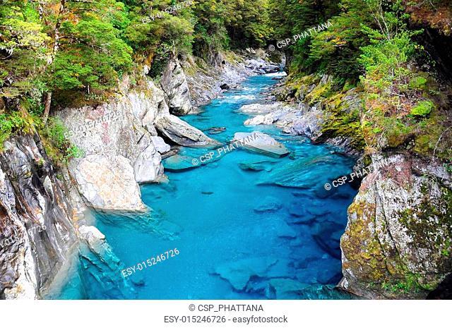 Blue Pools in Haast Highway