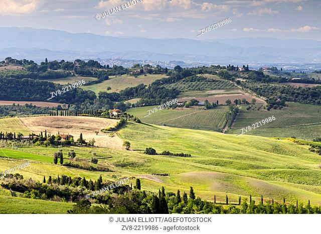 Scenery near to Montepulciano, Tuscany. The area is part of the Val d'Orcia and is under the protection of UNESCO as a World Heritage Site