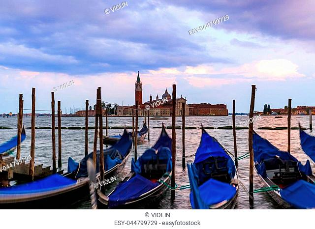 San Giorgio Maggiore church in Venice Italy - architecture background