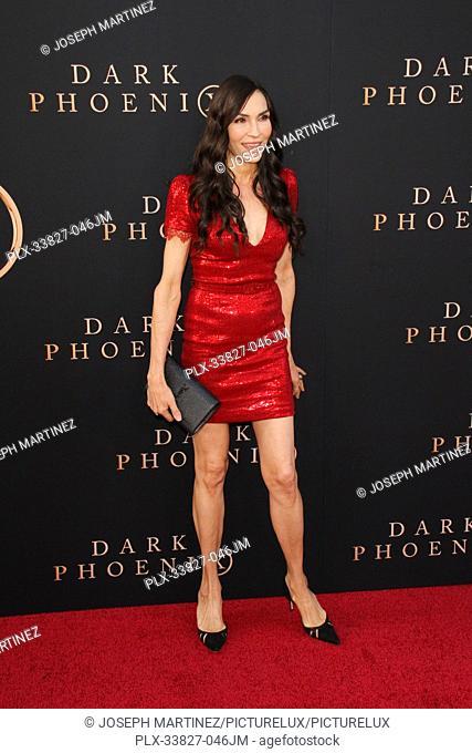 "Famke Janssen at the """"Dark Phoenix"""" Premiere held at the TCL Chinese Theatre IMAX, Los Angeles, CA, June 4, 2019. Photo Credit: Joseph Martinez / PictureLux"