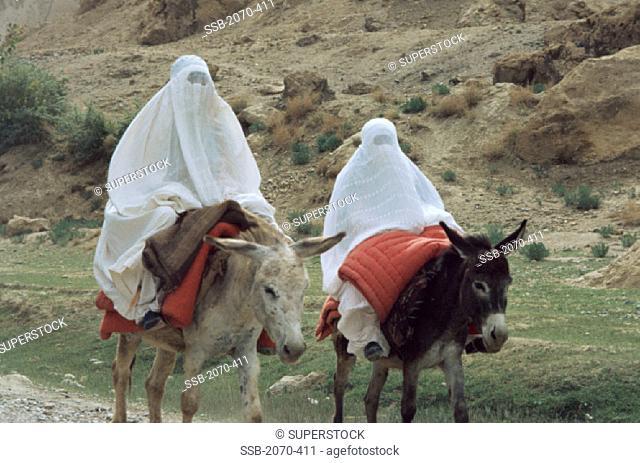 Chadri-clad Women Kunduz Area Afghanistan