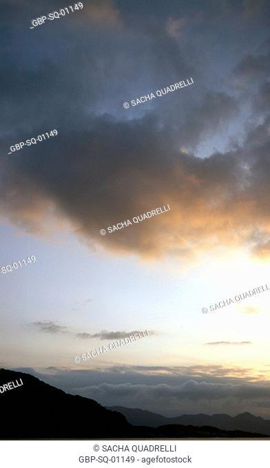 Sunset, Sunset, Sea, Clouds, Ilha Grande, RJ