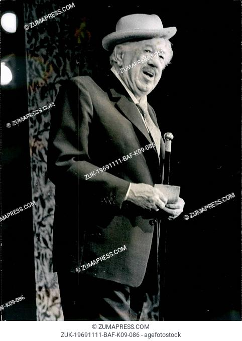 Nov. 11, 1969 - Michel Simon makes a hit in variety shows comeback: Michel Simon, one of the oldest French screen and stage actors