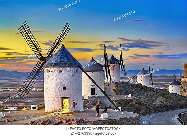 Windmills of Consuegra. Don Quixote route. Toledo. Castile-La Mancha. Spain