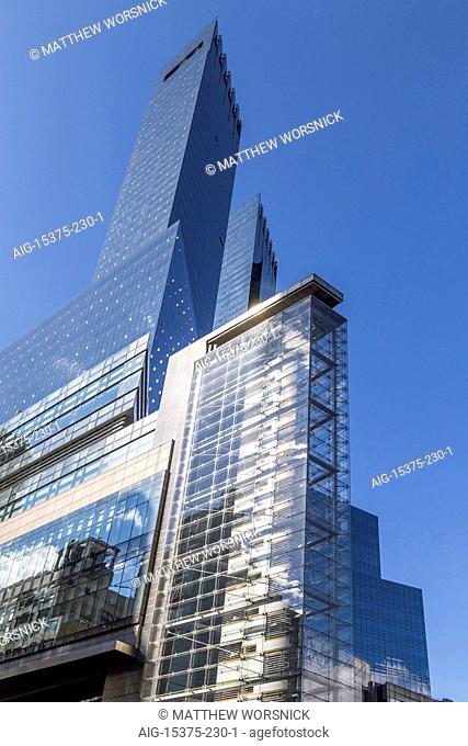 The Time-Warner Center, by SOM, on Columbus Circle in Manhattan