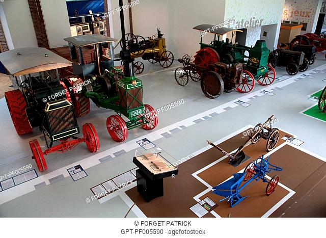 COLLECTION OF OLD TRACTORS, MUSEUM OF THE COMPA, AGRICULTURAL CONSERVATORY, CHARTRES (28), FRANCE