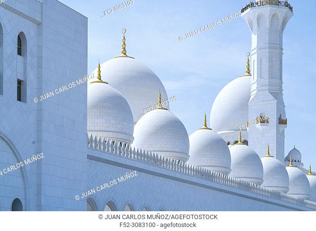 Sheikh Zayed Grand Mosque, Abu Dhabi City, Emirate of Abu Dhabi, Persian Gulf, United Arab Emirates, UAE, The Middle East