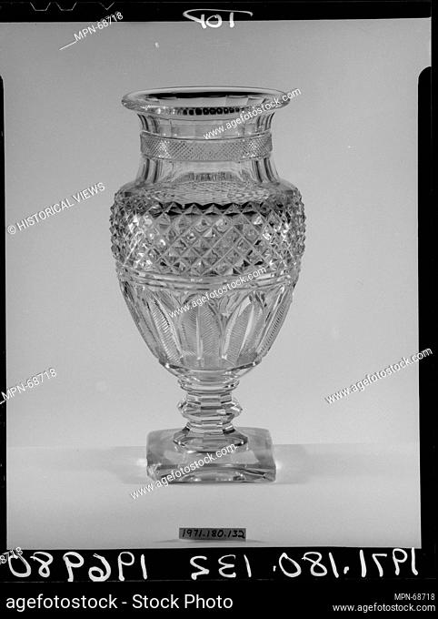Vase. Date: ca. 1825; Geography: Made in France; Culture: French; Medium: Cut blown glass; Dimensions: Dimensions unavailable; Classification: Glass; Credit...