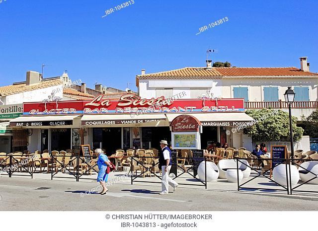 Restaurant, Les Saintes-Maries-de-la-Mer, Camargue, Bouches-du-Rhone, Provence-Alpes-Cote d'Azur, Southern France, France, Europe