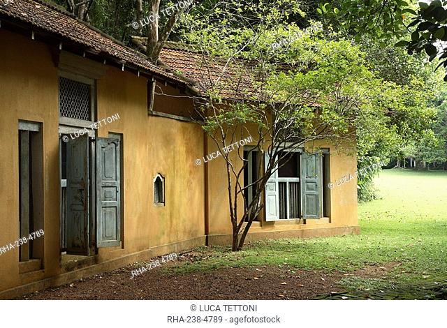 Lunuganga Garden, developed by famed architect Geoffrey Bawa who lived between 1919 and 2003, Bentota, Sri Lanka, Asia
