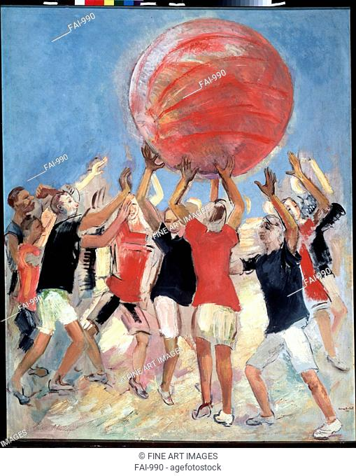 Pushball. Kuznetsov, Pavel Varfolomeyevich (1878-1968). Oil on canvas. Russian avant-garde. 1931. State Tretyakov Gallery, Moscow. 178x142,5. Painting