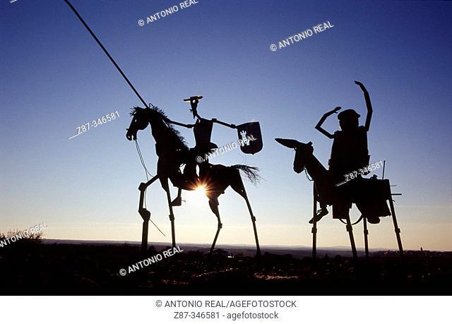 Monument to Don Quixote. Munera. Campo de Montiel. Albacete. Castlla-La Mancha. Spain