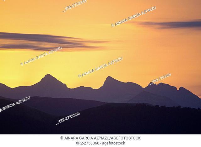 Sunrise in Pyrenees mountain range