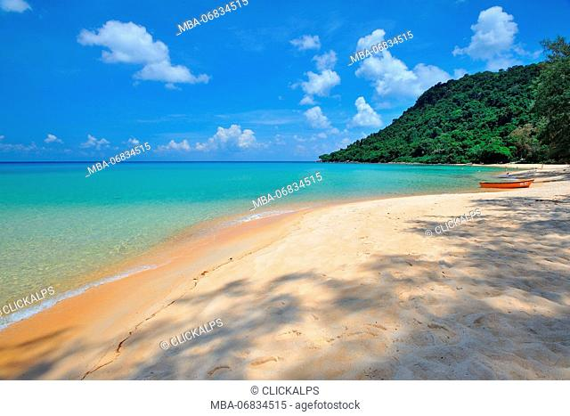 Cambodia, Sihanoukville, Koh Rong Samloem island, Sunset beach