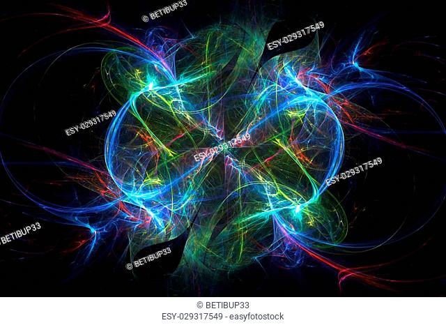 Electromagnetic abstract background and wallpaper made by render software