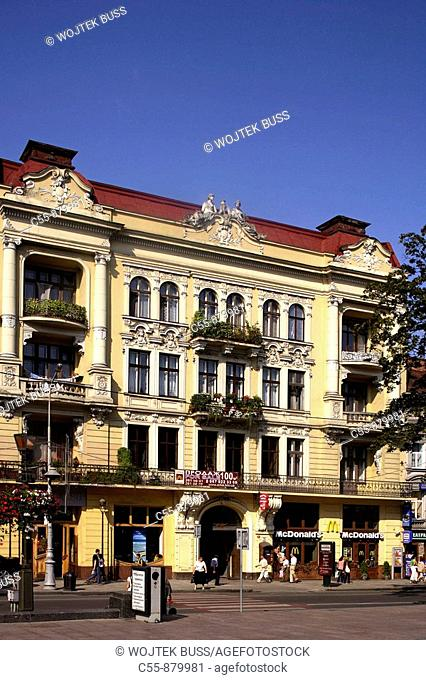 Lviv,Lvov,Prospect Svobody,Freedom Boulevard,typical buildings,Western Ukraine