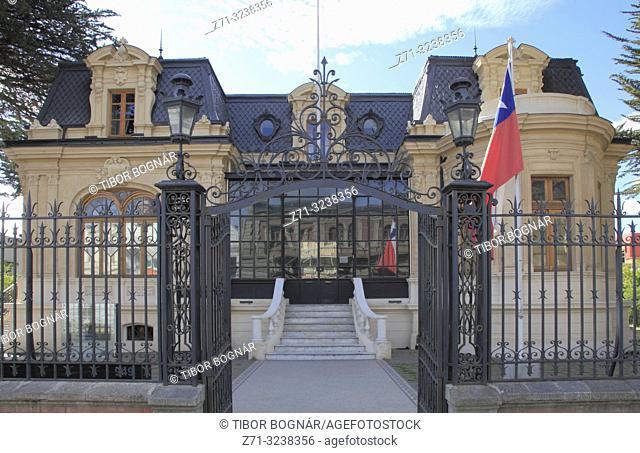 Chile, Magallanes, Punta Arenas, Braun Menendez Regional Museum,
