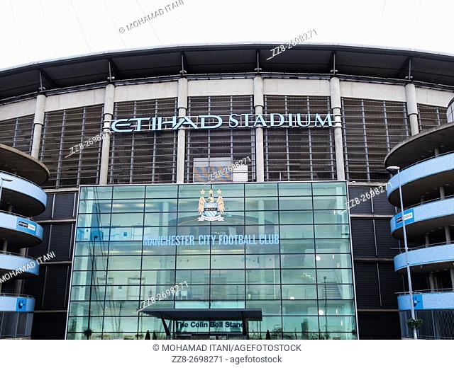 Etihad Stadium The Colin Bell Stand entrance