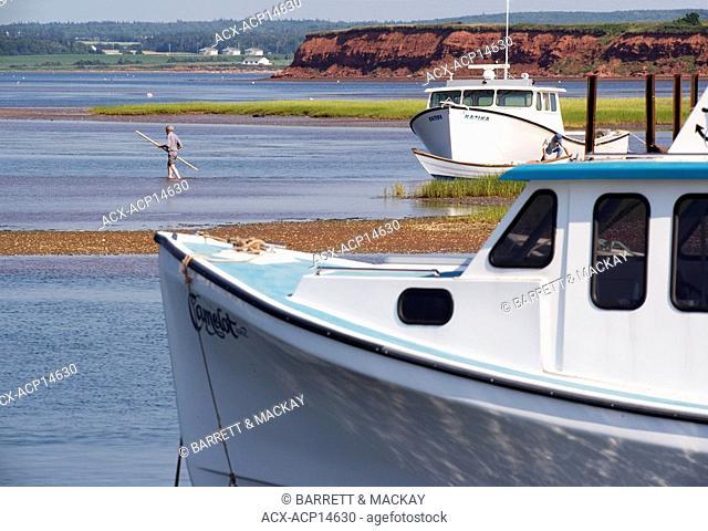 Fishing boats, Malpeque Harbour, Prince Edward Island, Canada