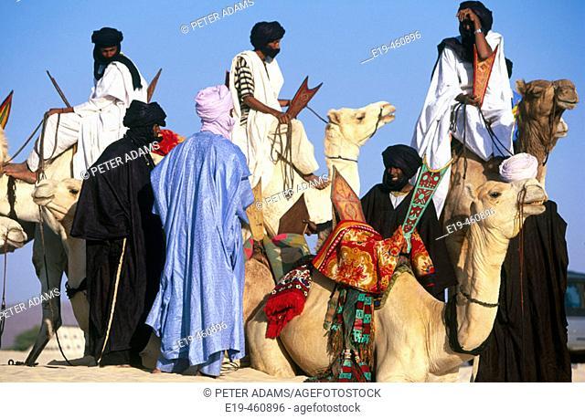Tuaregs in the Sahara. Mali