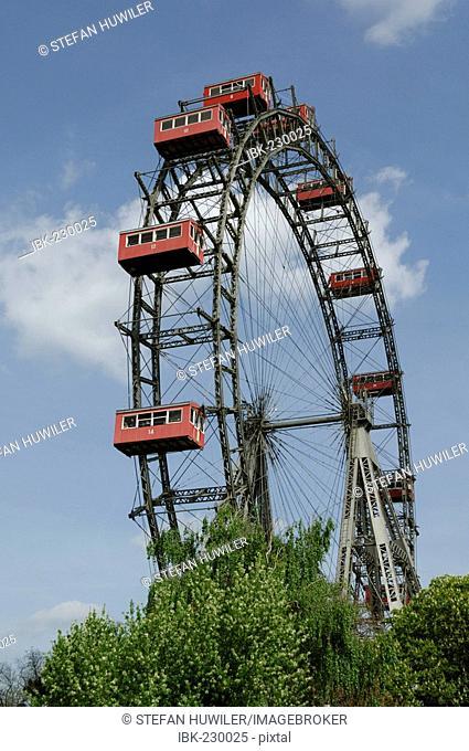 Giant wheel, Wiener Prater, amusement park, Vienna, Vienna, Austria