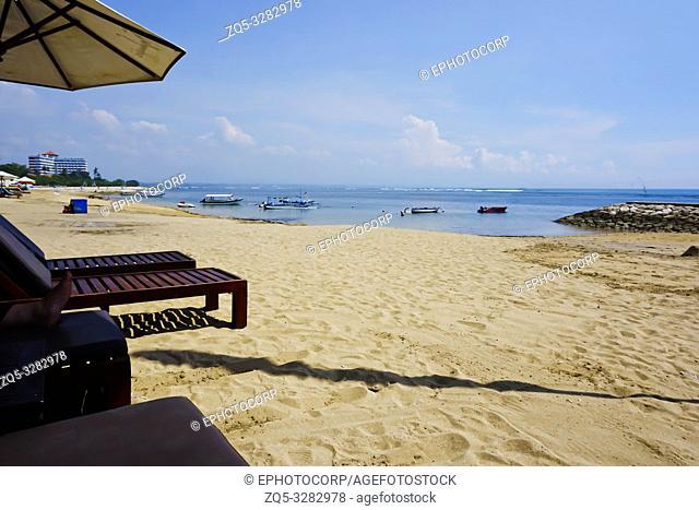 Beautiful view of Sanur beach, Bali, Indonesia