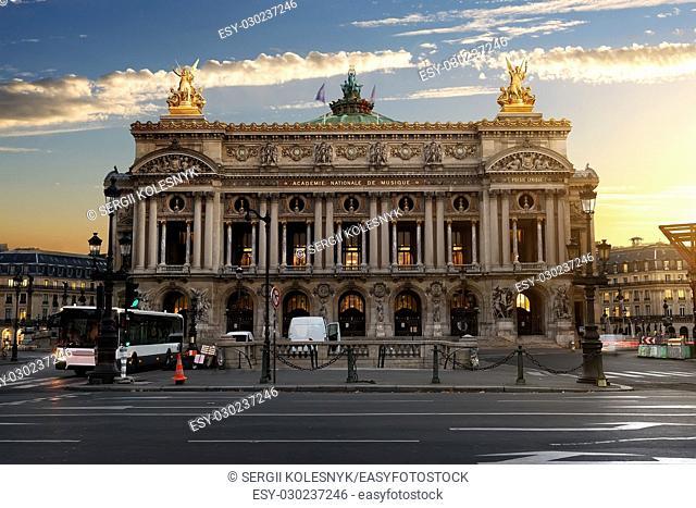 Parisian Grand Opera in the morning, France