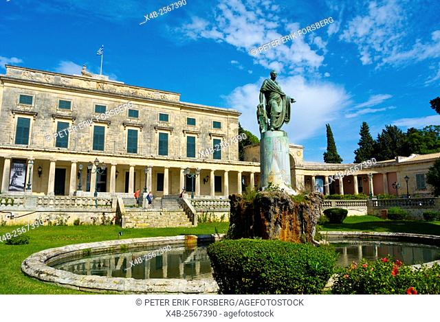 Statue of Frederick Adam, Palaia Anaktora, Old Palace, Palace of St Michael and St George,Corfu town, Greece