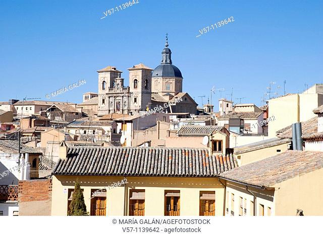 Roofs and San Ildefonso church. Toledo, Castilla La Mancha, Spain