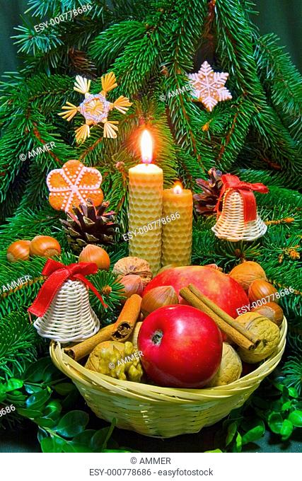 Traditional christmas decorations, folk customs