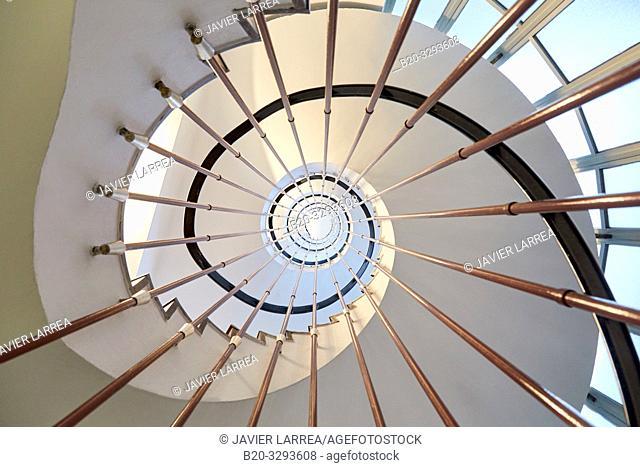 Stairs, Hospital Donostia, San Sebastian, Gipuzkoa, Basque Country, Spain