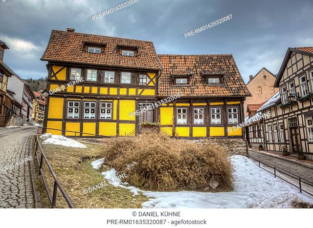 Half-timbered houses, Stolberg (Harz), Südharz, Mansfeld-Südharz District, Saxony-Anhalt, Germany / Fachwerkhäuser, Stolberg (Harz), Südharz