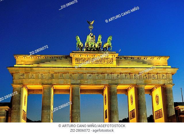 The neoclassical Brandenburger Tor -Brandenburg Gate-, XVIIIth-century, by Carl Gotthard Langhans. Berlin, Germany
