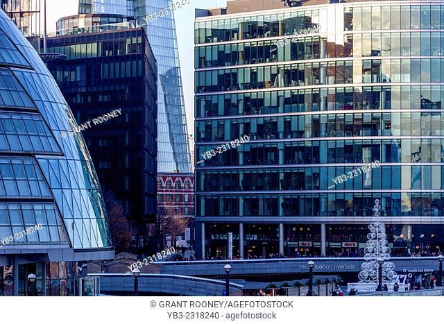 City Hall, The Shard and More London Development, London, England