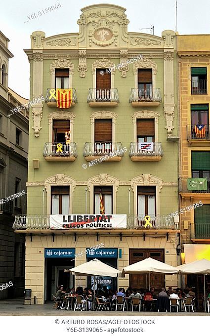Mercadal Square of Reus, Tarragona. Catalonia, Spain