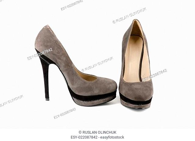 grey female shoes