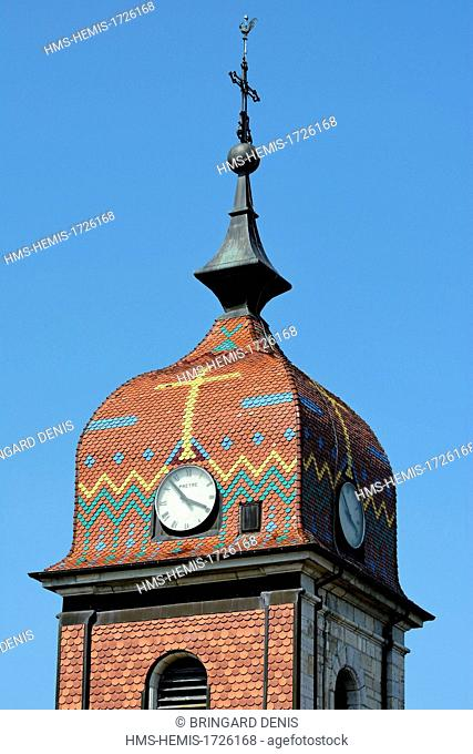France, Doubs, La Planee, church, the imperial tower