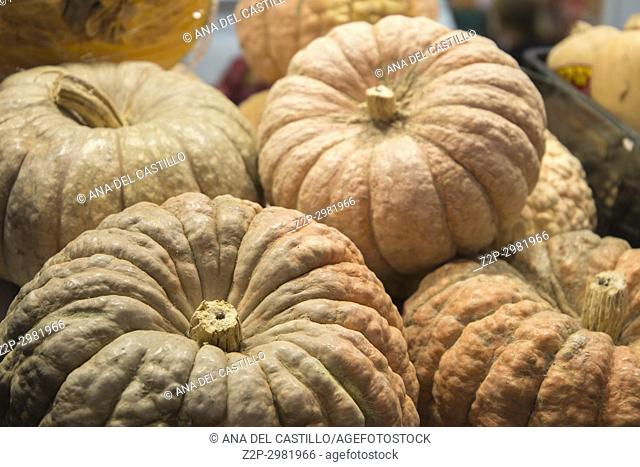 Pumpkins at market Denia Spain