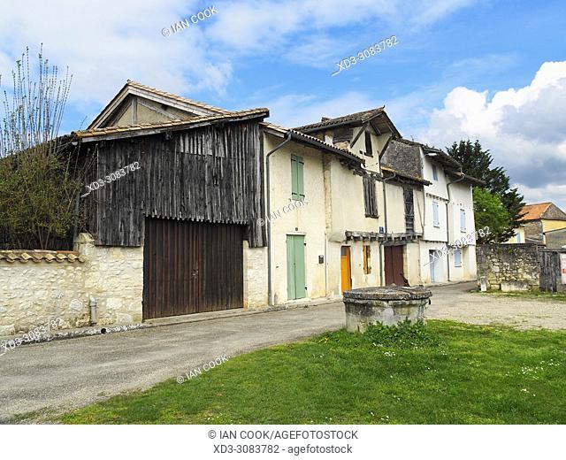 empty street, La Sauvetat du Dropt, Lot-et-Garonne, Aquitaine, France
