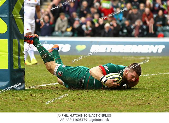 2015 LV Cup Semi Final Leicester v Exeter Mar 15th. 15.03.2015. Leicester, England. LV Cup Semi Final. Leicester Tigers versus Exeter Chiefs