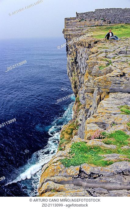 Cliff, Inishmore island, the Aran Islands, Republic of Ireland