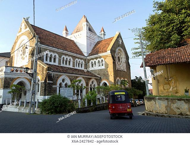 All Saints Anglican Church historic town of Galle, Sri Lanka, Asia