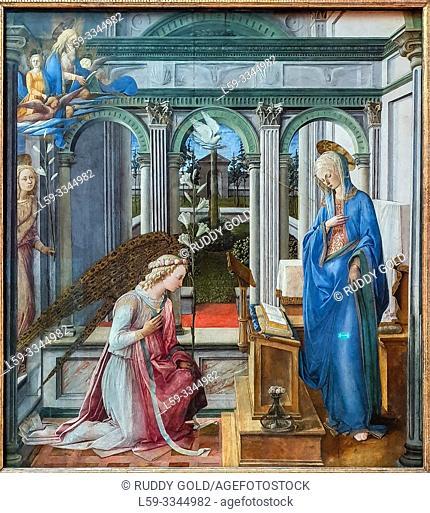 'Annunciation', 1443, by Fra Filippo Lippi (1408-1469)