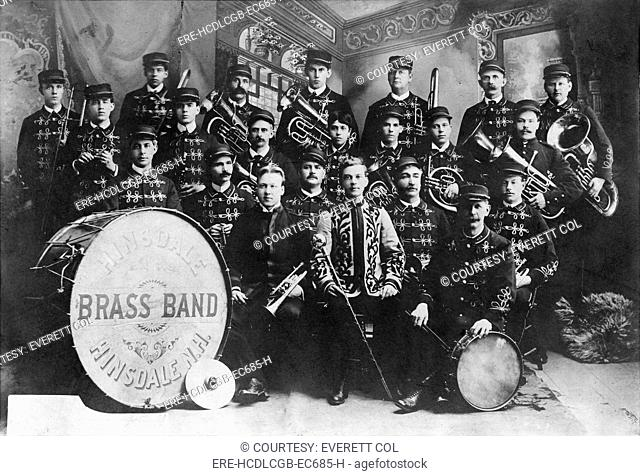 Hinsdale Brass Band, Hinsdale, New Hampshire, photograph, 1906