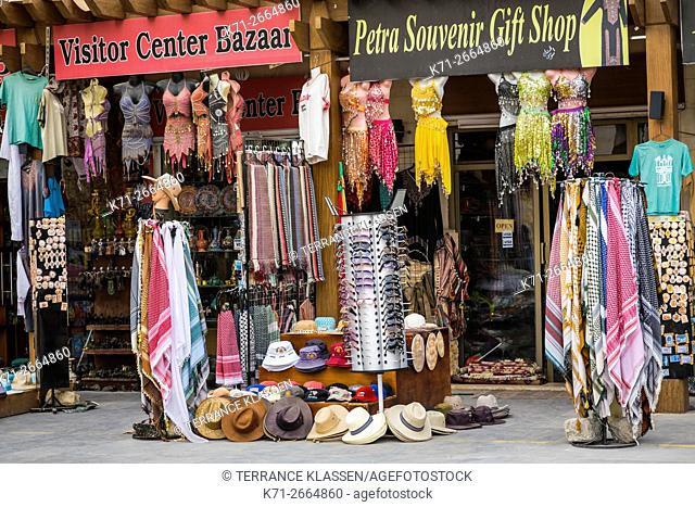 Shops and stores at the entrance to Petra, Hashemite Kingdom of Jordan
