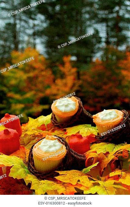 Thanksgiving Cupcakes in Cornucopia